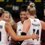 Olympics Latest: Us Women Win Over China In Volleyball