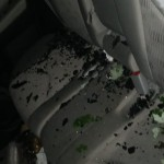 Broken Glass Inside A Car Caused By Storms In Columbus Via Nick Wright