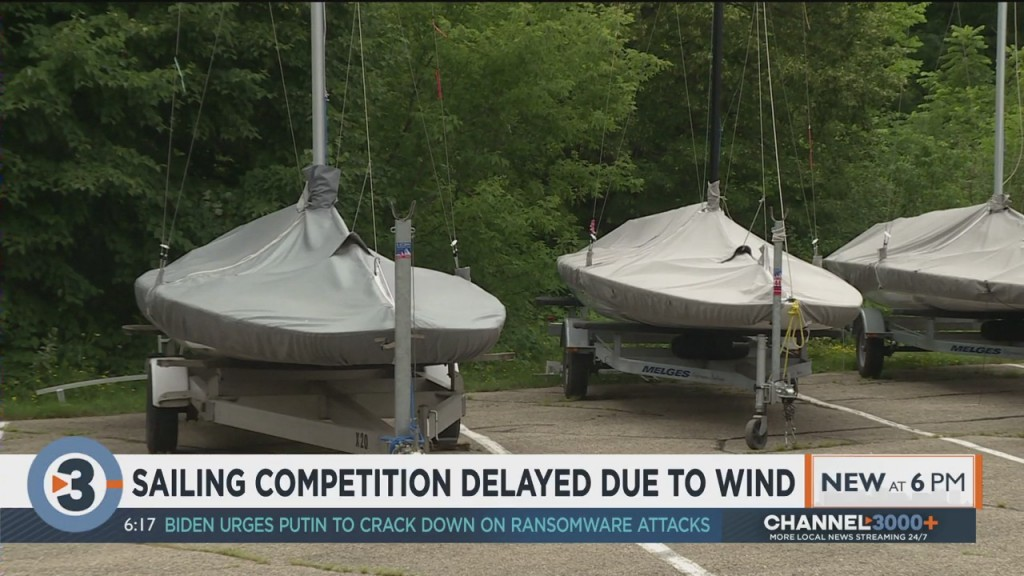 Sailing Competition Delayed Due To Wind