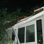 A Roof Damaged By A Fallen Tree In Columbus Via Nick Wright
