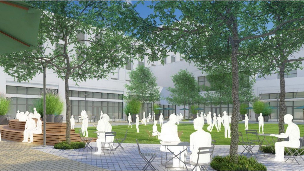 Rendering of the new hilldale space