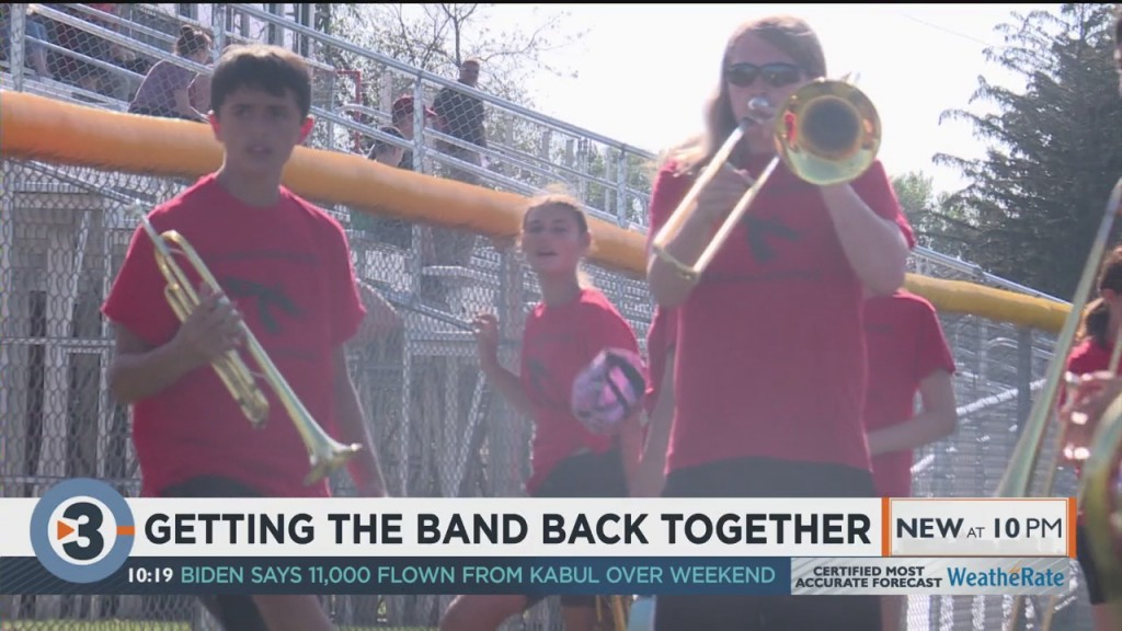 Columbus High School Band Drums Up Excitement