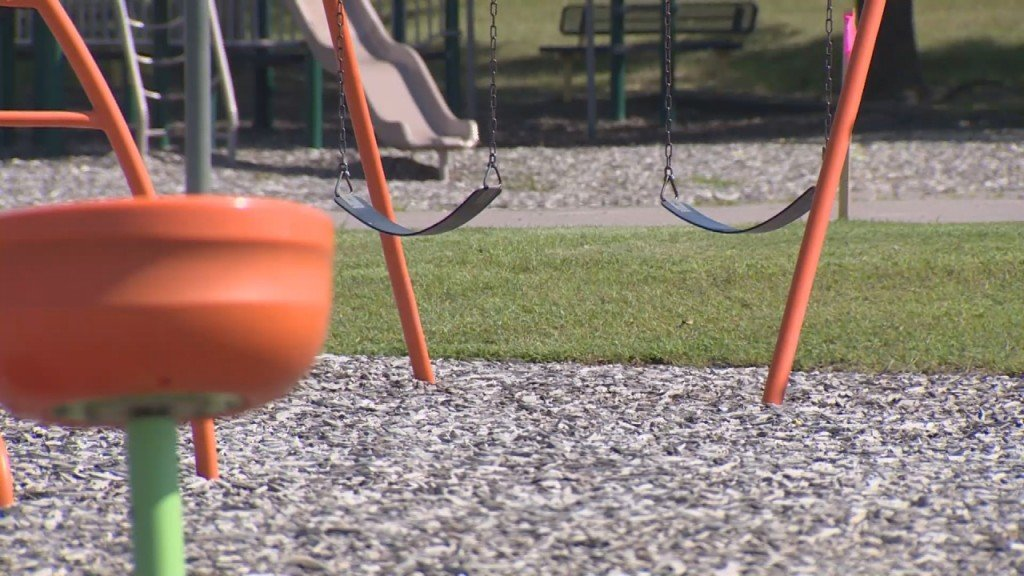 Empty Playground COVID vaccinations