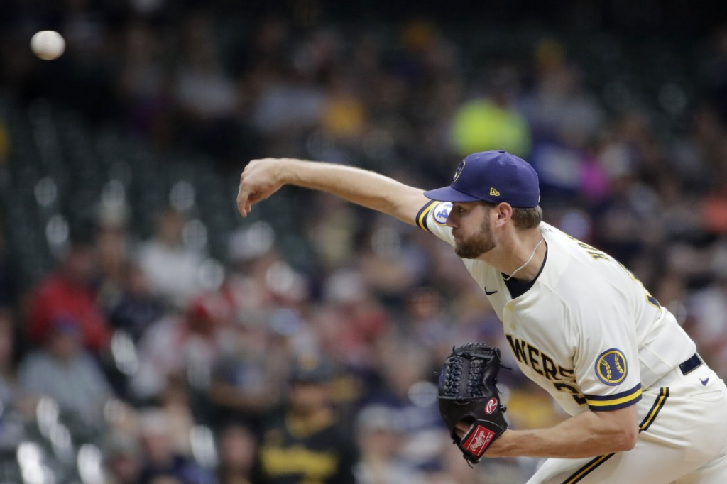 Held Hitless Into 7th By Houser, Pirates Top Brewers In 10th