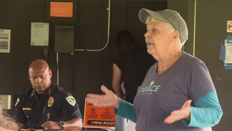 women share's thoughts with Chief Barnes