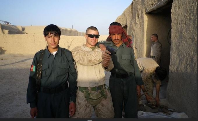 Mitch Rayfield with Afghanistan friends