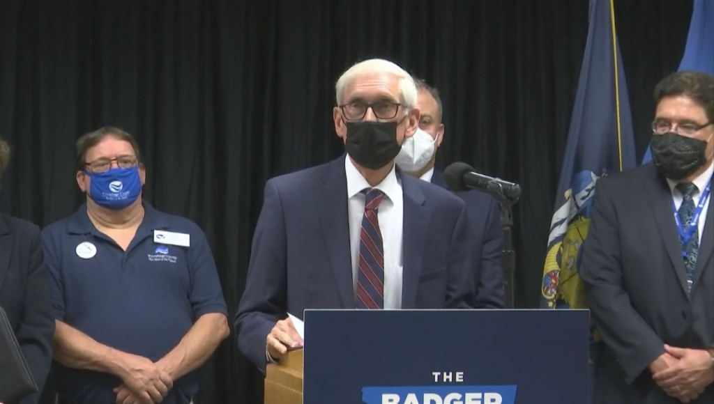 Governor Tony Evers says Wisconsin has hit 6 million total vaccine doses