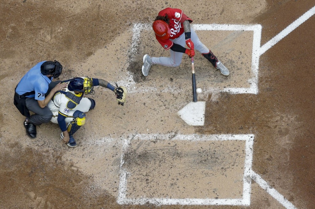 India, Castellanos Homer To Back Gray; Reds Beat Brewers 5 1