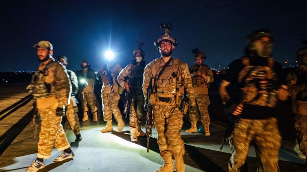 Taliban Taking Over Airport From Americans, Kabul, Kabul Province, Afghanistan 31 Aug 2021