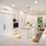 open kitchen with an island