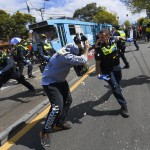 The Latest: Police Use Pepper Spray At Protest In Australia