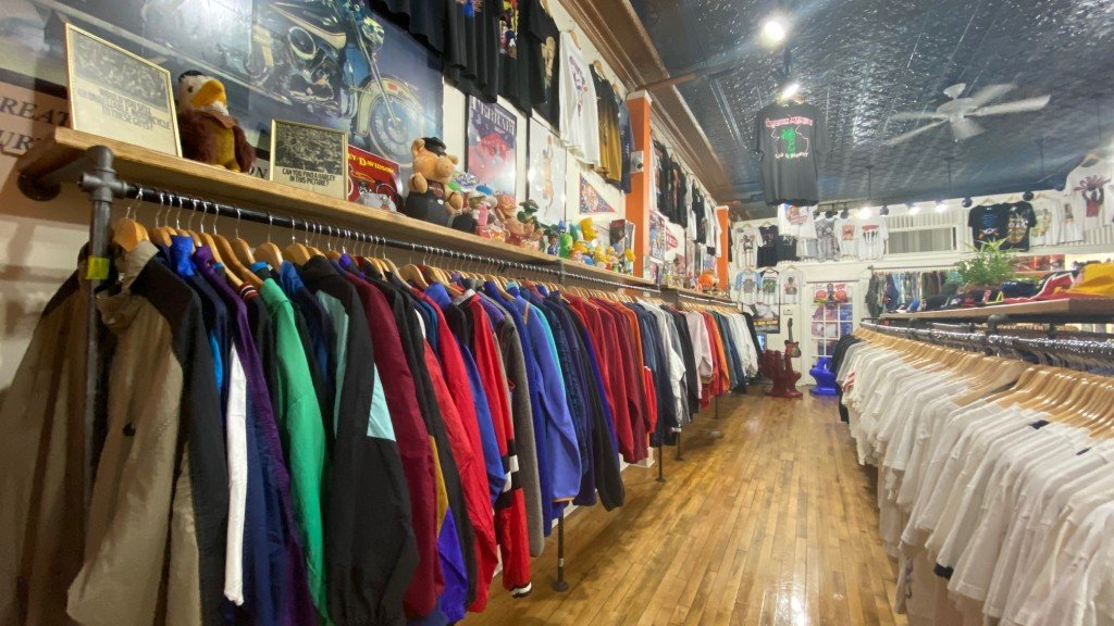 Inside Singlestitch are vintage jackets and toys.