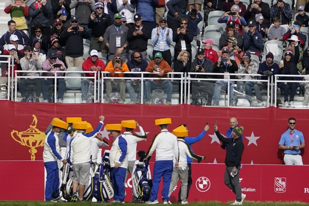 The Latest: Europeans Turn Into Packers Fans At Ryder Cup