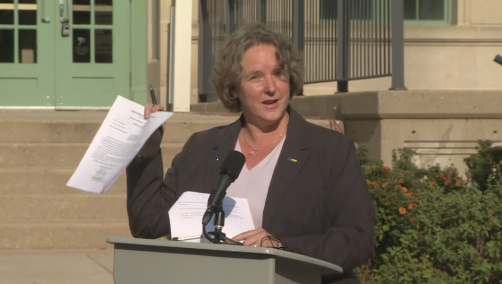Madison mayor Satya Rhodes-Conway shows the election investigation subpoena she received