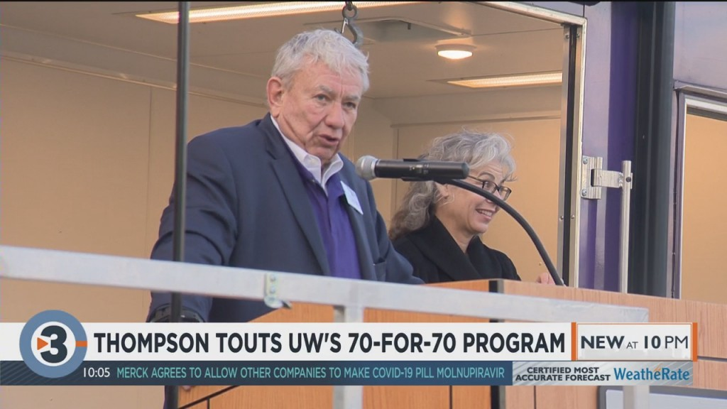 Tommy Thompson Visits Uw Whitewater To Promote Vaccine Initiative