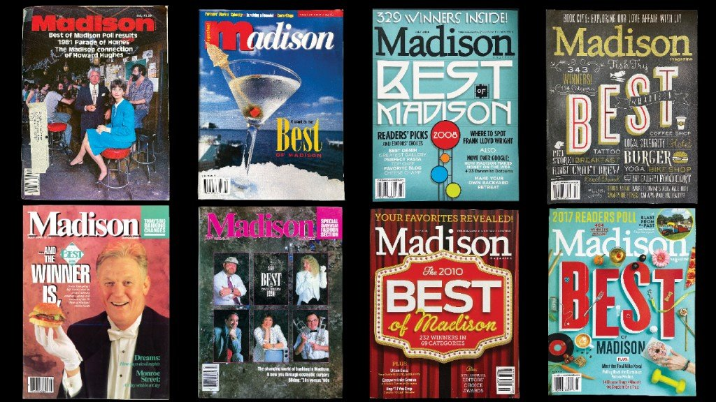 8 former covers of Madison Magazine