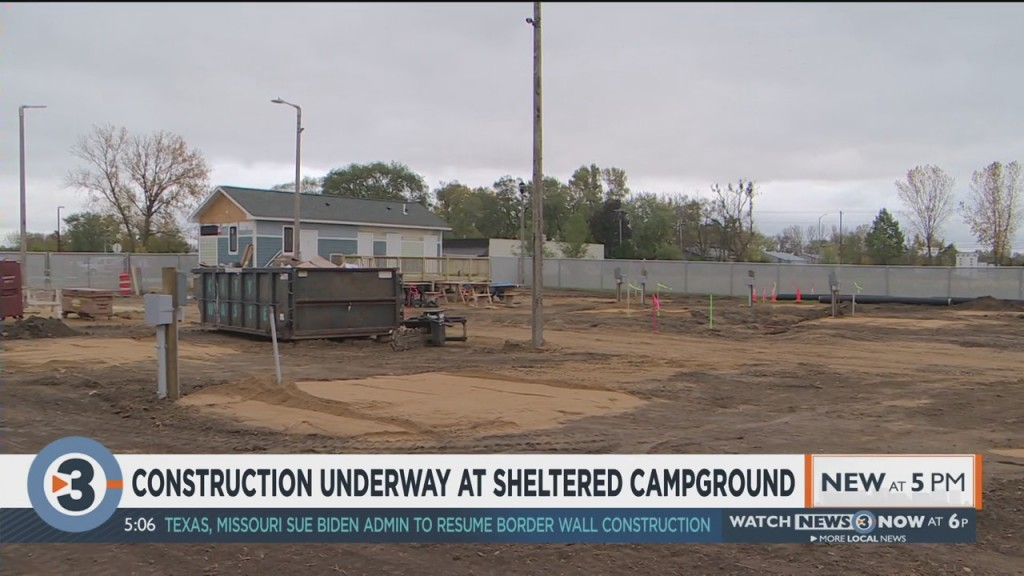 Construction Underway On Homeless Shelter Campground