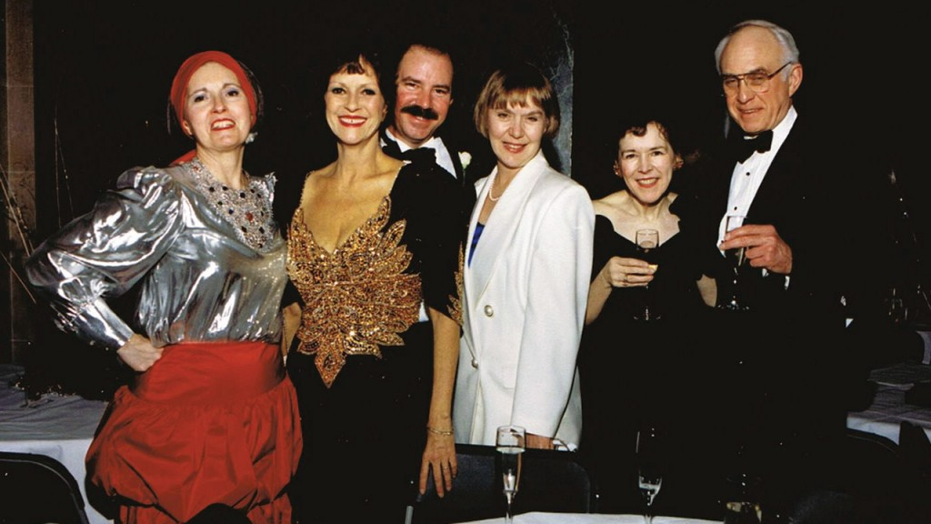 Gail Selk, along with three other women and two men at the frostiball