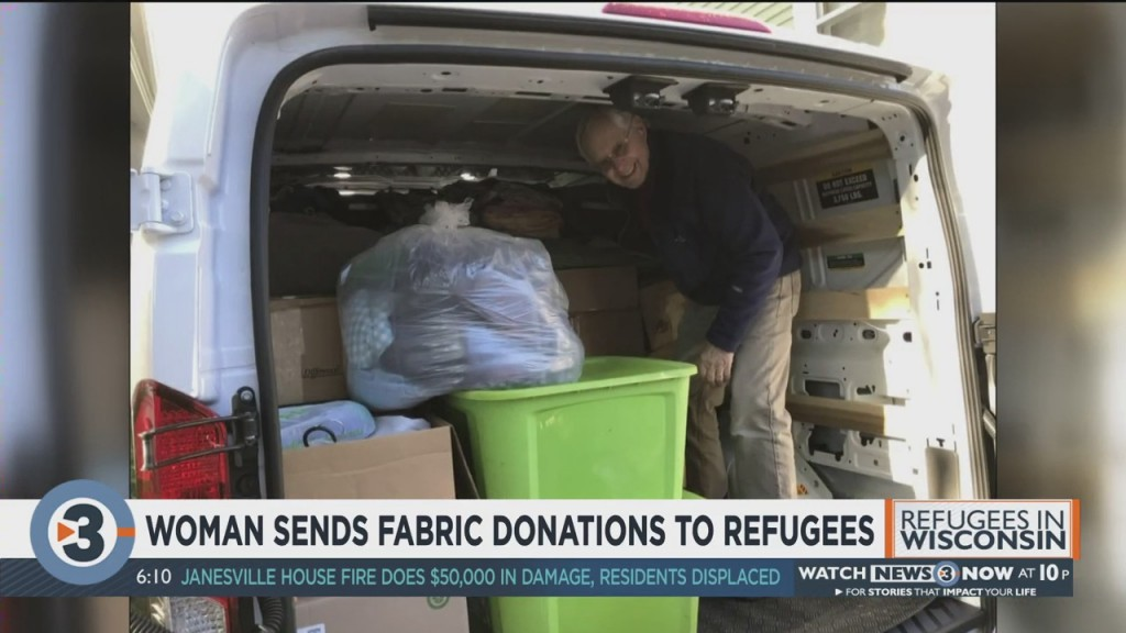 Woman Sends Fabric Donations To Refugees