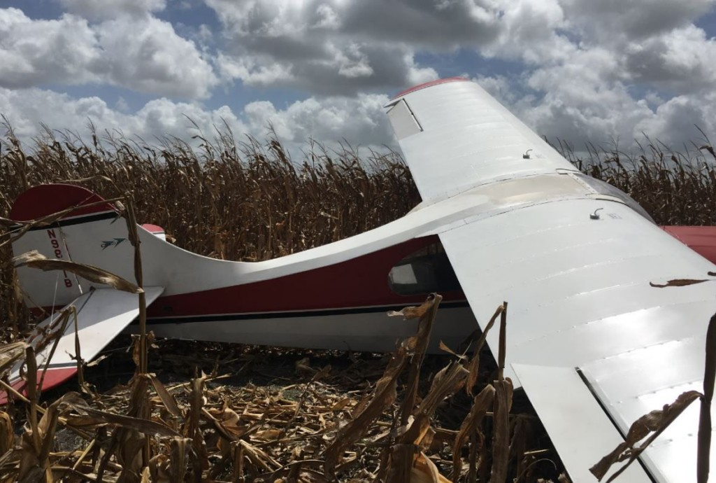 Airplane crashes into a crop field near Lake Placedo Road