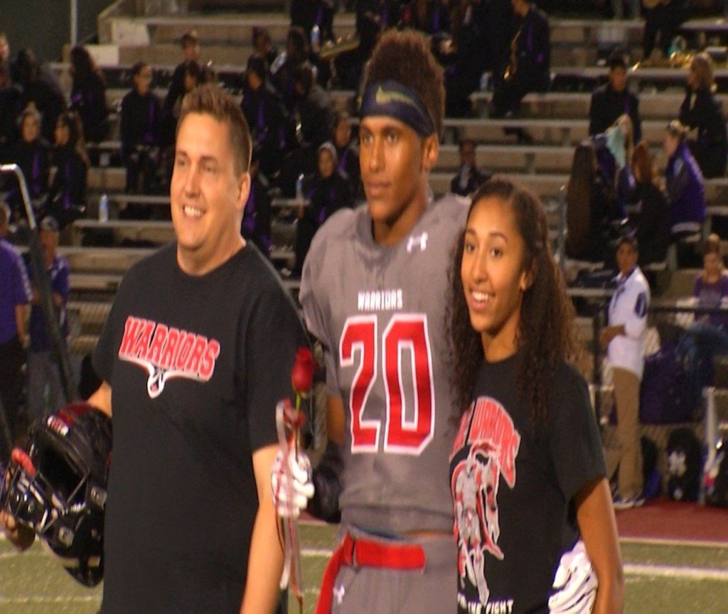 Second Warrior Football Player Gets Big State Honor