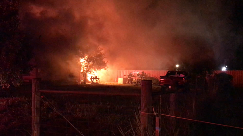 Goliad family displaced after a house fire