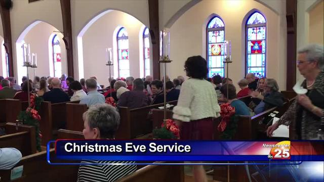 A Candlelight service and Holy Communion took place on Christmas Eve