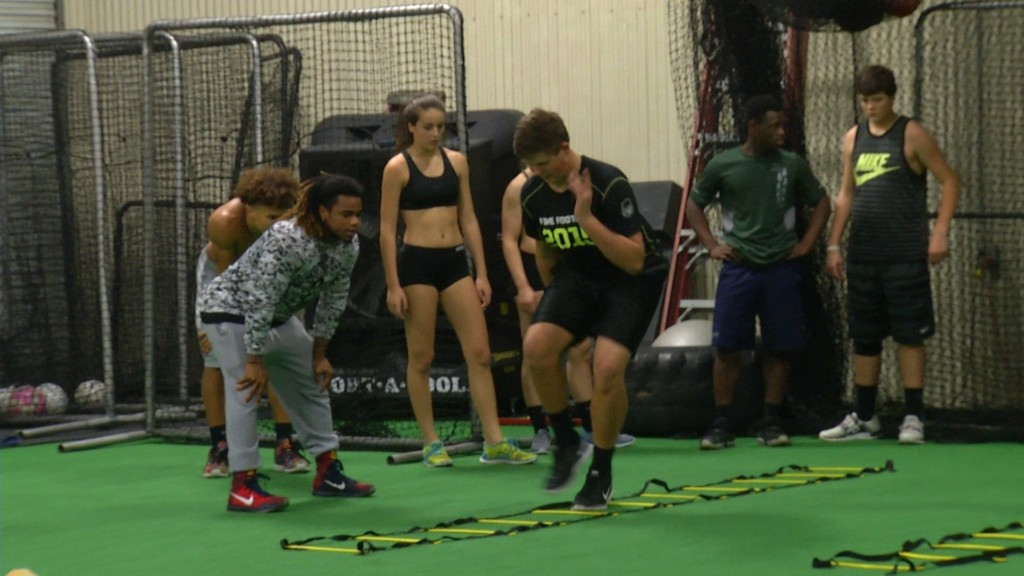 Athletes train for the next level