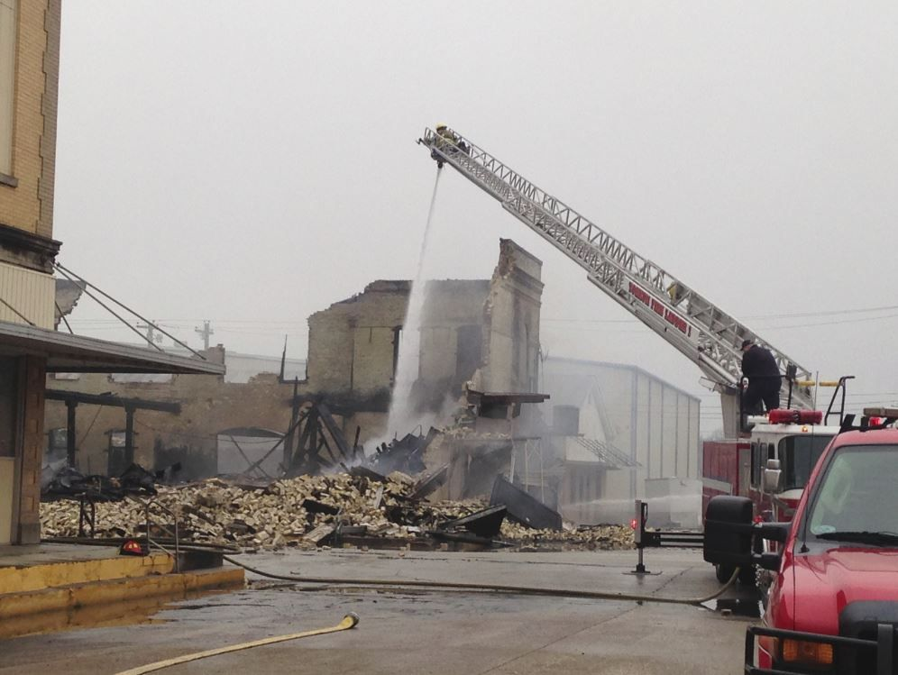 Downtown Yoakum Building Burns Down After Early Morning Fire
