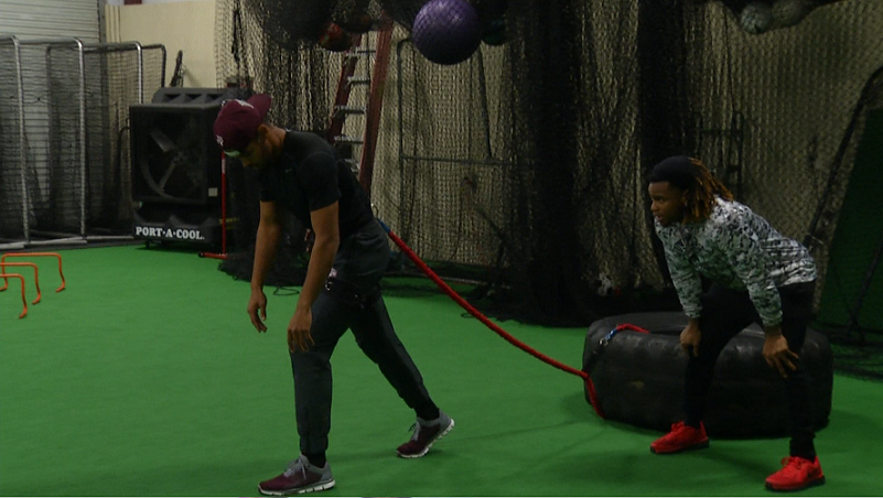 A&M Wide Receiver Takes Training to Victoria