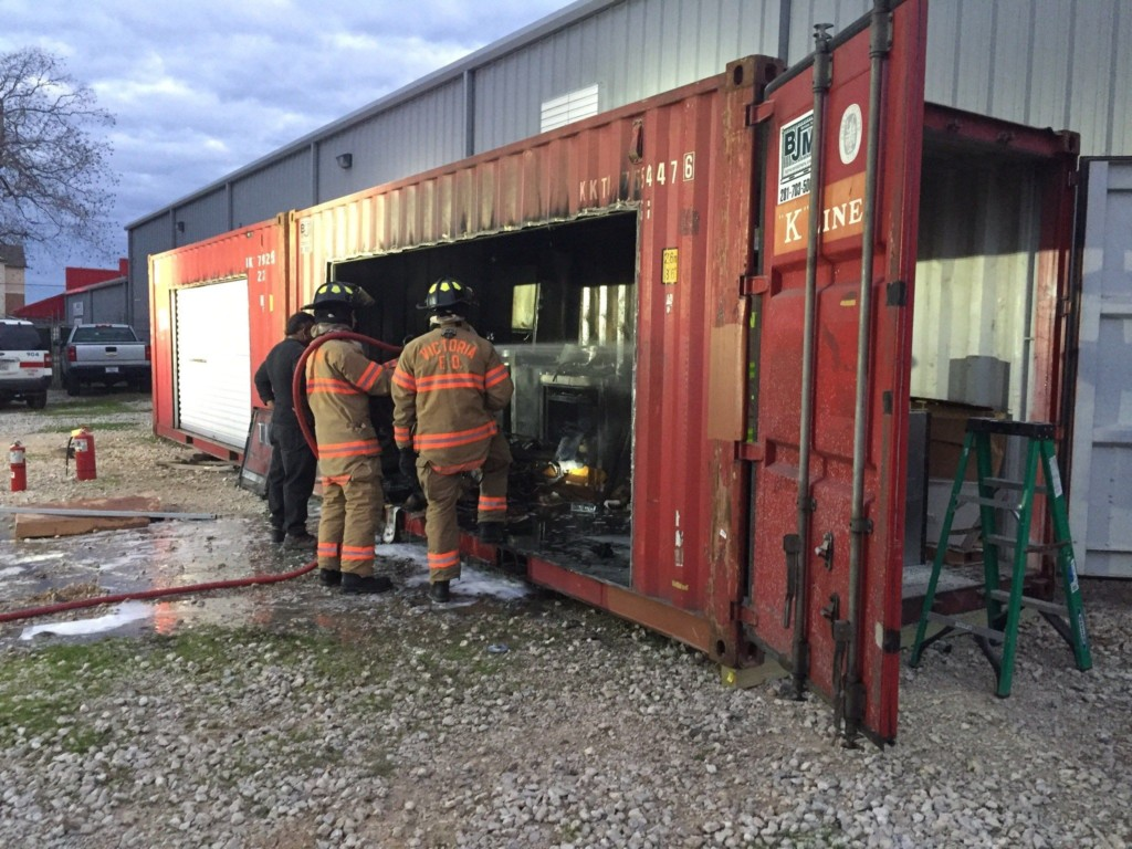 Fire Sparks at Victoria Builder Supply