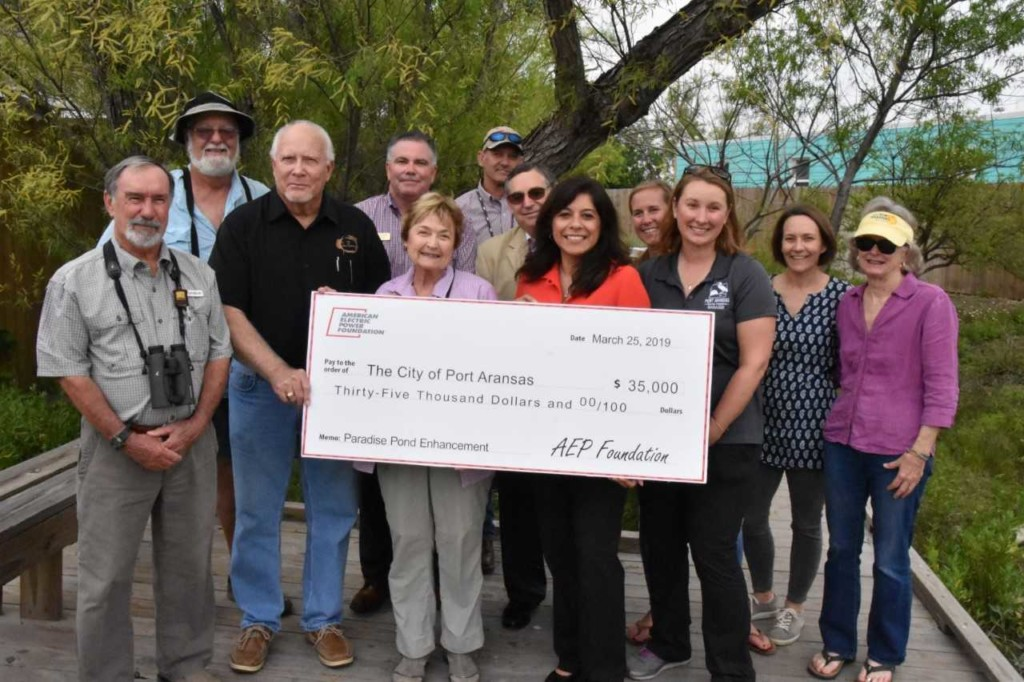 AEP Foundation awards $35,000 grant to City of Port Aransas for pond restoration