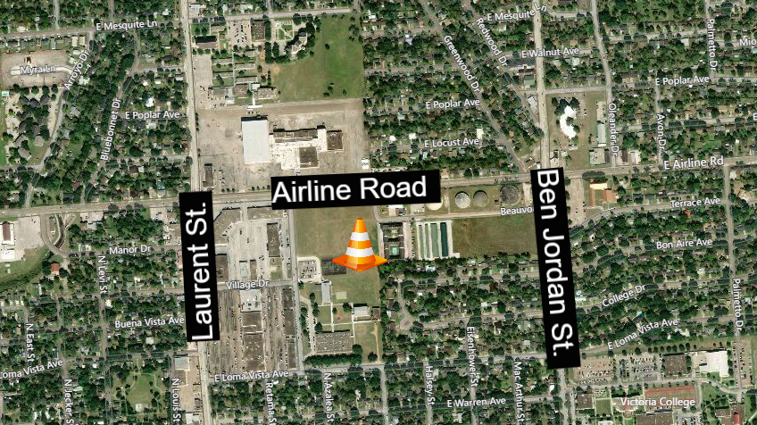 Airline Road traffic lanes reduced beginning Tuesday