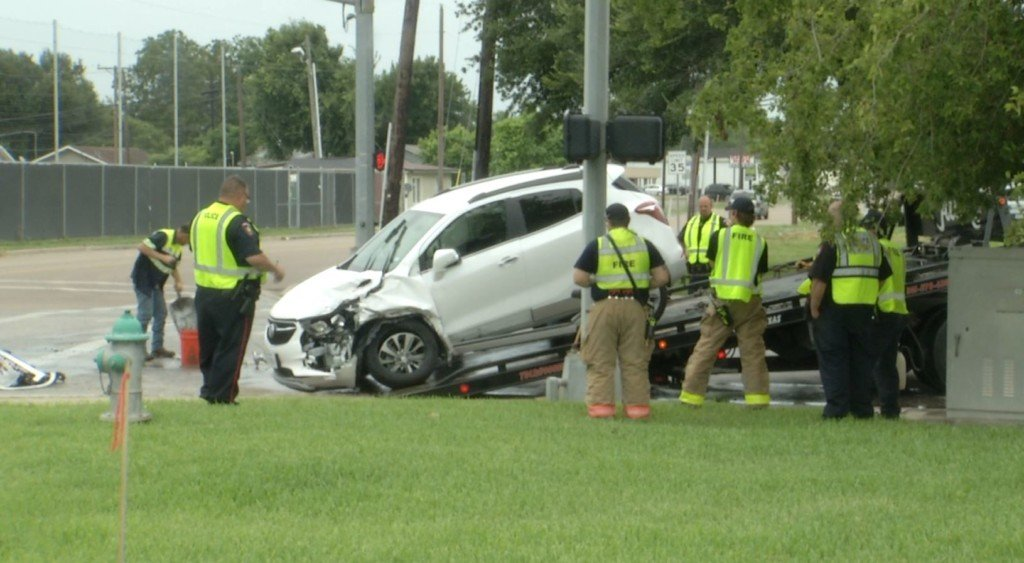 Two vehicle accident leads to hospital visits for both drivers