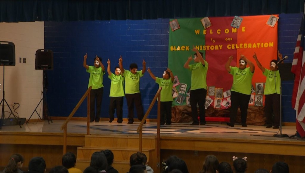 Smith Elementary celebrate Black History Month in Victoria