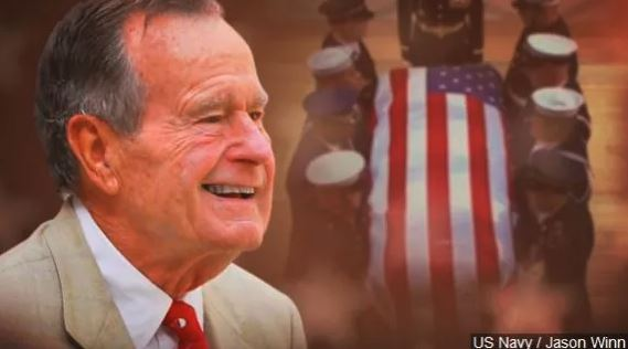 Bush funeral opens with song from inauguration