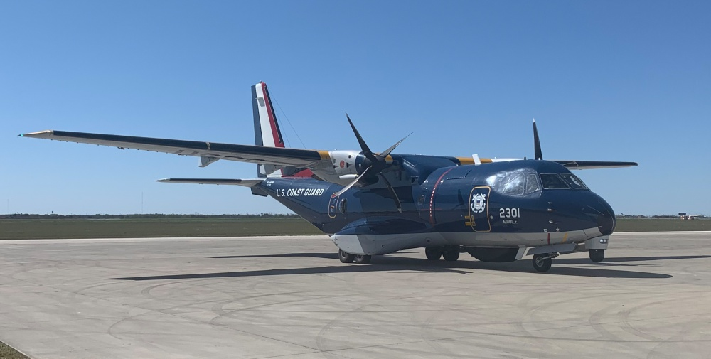 Coast Guard receives upgraded Ocean Sentry aircraft in Corpus Christi