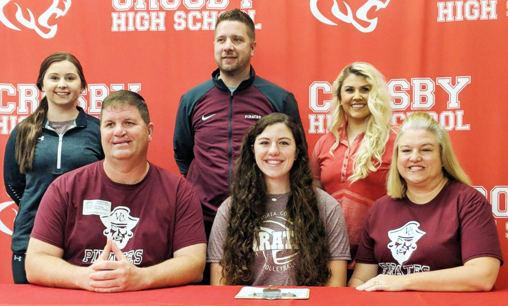 Victoria College signs Crosby volleyball standout