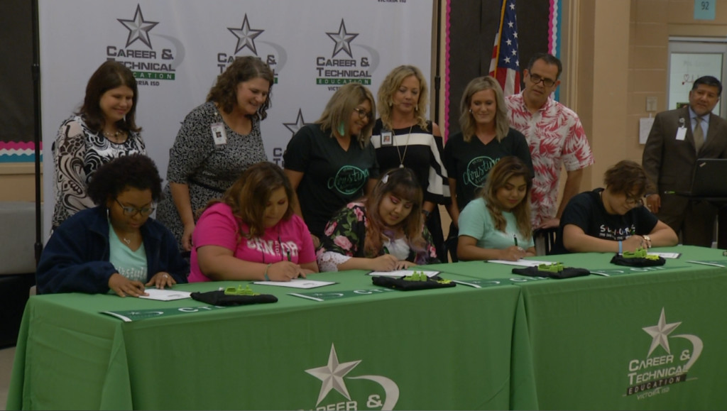 Victoria ISD celebrates technical education students with signing day