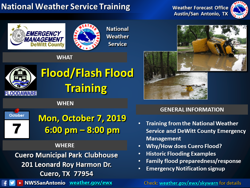 National Weather Service and DeWitt Emergency Management to present FloodAware Program