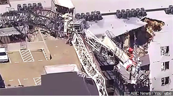 Tenant files negligence suit over crane collapse