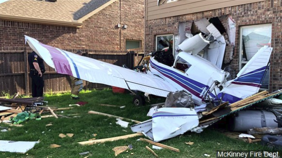 2 injured as small plane crashed into Dallas-area house