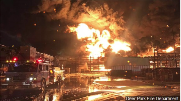 No timeline for Texas chemical fire to burn out