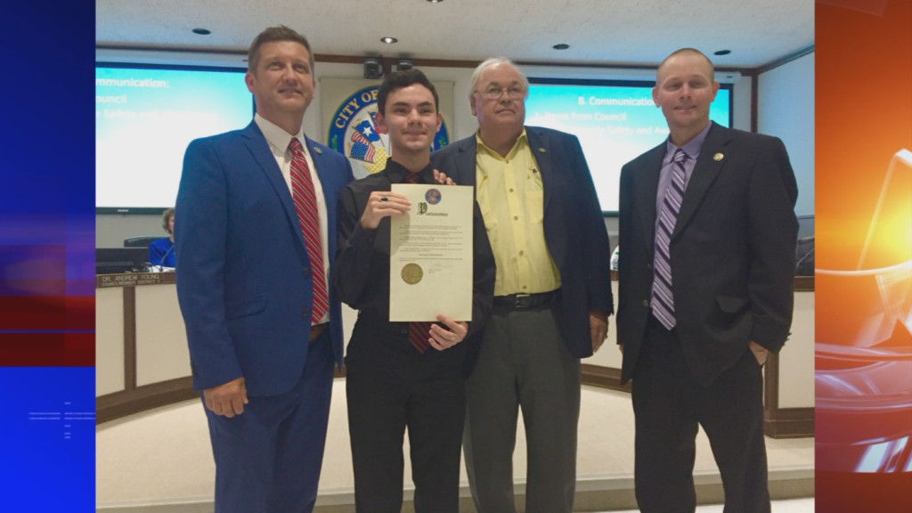 Victoria teen gets a day named after him for fundraising to save local park