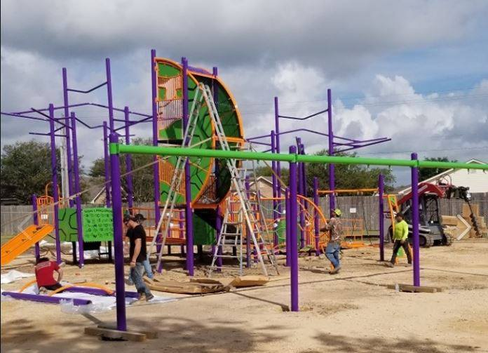 Victoria Parks and Rec finishing up construction on inclusive playground