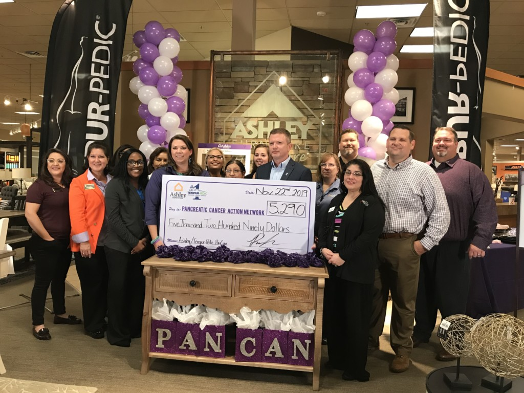 Ashley HomeStore raised $5K for Pancreatic Cancer research