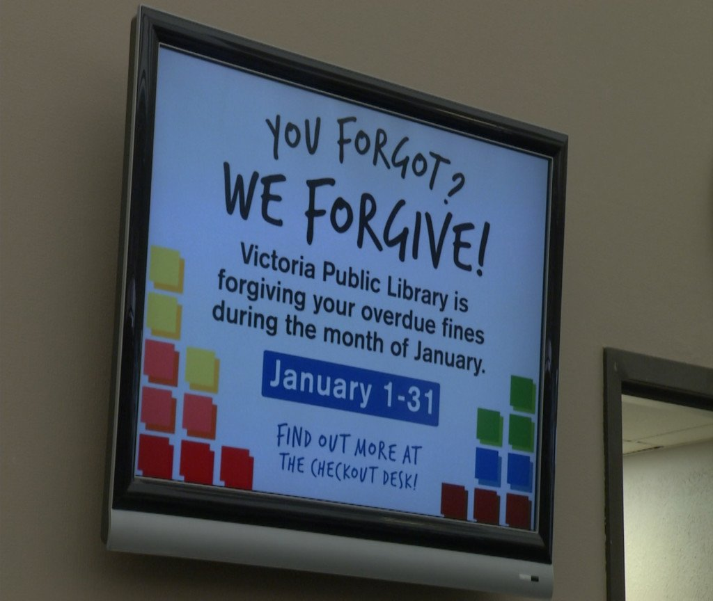 Victoria public library clearing fines for Fine Forgiveness month