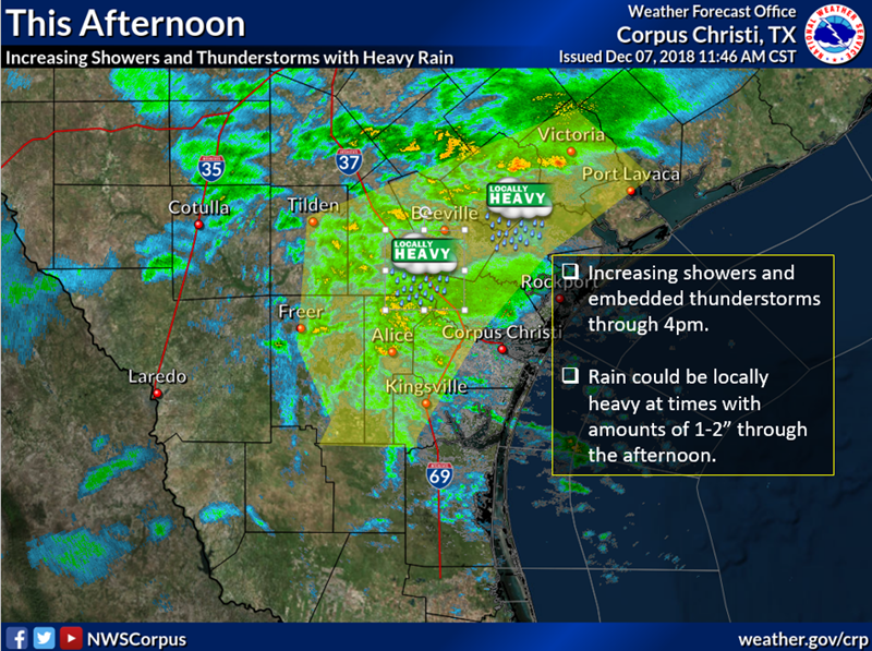 Flash Flood Watch in effect from noon through 6am Friday