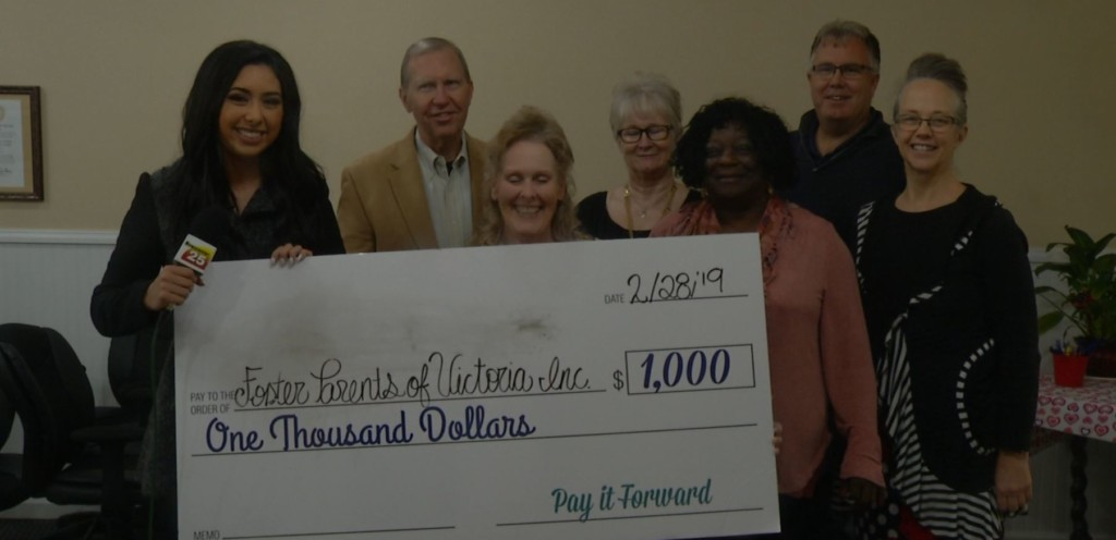 Foster Parents of Victoria Inc. honored to be this month's Pay It Forward recipient