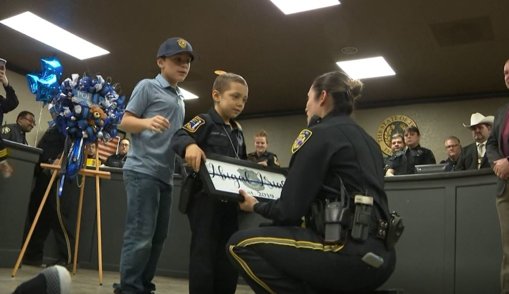 6-year-old with cancer sworn in as honorary police officer